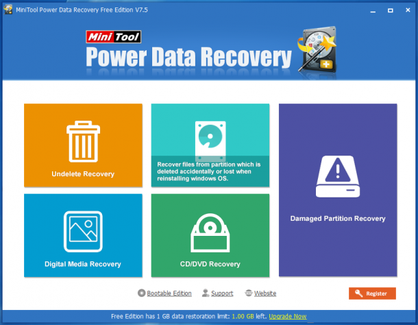 Скриншот к MiniTool Power Data Recovery